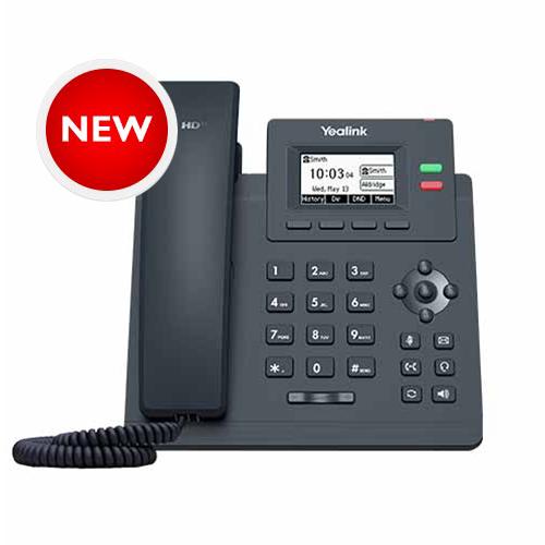 Yealink 10/100 desktop IP phone, excludes PSU