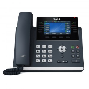 "T46U | Yealink Gigabit IP Phone with Dual USB Ports and 4.3"" Colour LCD - front"