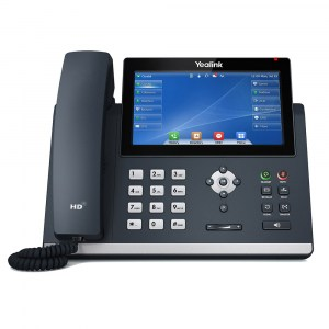 T48U | Yealink Gigabit IP Phone with Touch LCD and Dual USB Ports - Front