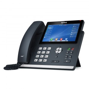 T48U | Yealink Gigabit IP Phone with Touch LCD and Dual USB Ports - left