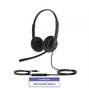 UH34-DUO | Yealink On Ear USB Stereo Headset - Angle